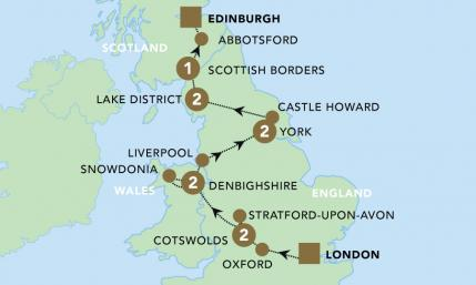 Map Of England Edinburgh.9 Day Small Group Tour Highlights Of Britain Lynott Tours