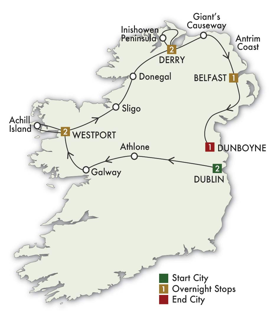 8 Day Northern Welcome Tour Ireland Of The Welcomes Lynott Tours