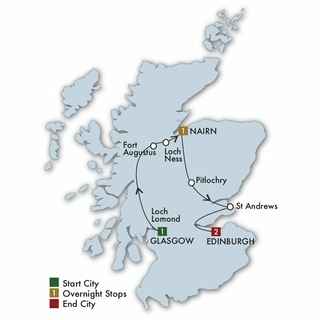 Pitlochry Scotland Map.Short Escorted Tour Of Scotland Lynott Tours Taste Of Scotland