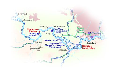 Thames River Cruise Route