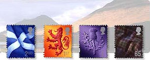 Scotland stamps